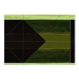 Verde abstracto invitaciones personales