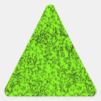verde abstracto pegatina triangular