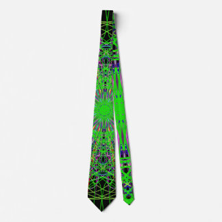 Verde alegre de los colores del arte de la mandala corbata personalizada