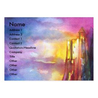 Verde amarillo blanco azul púrpura del redorange tarjetas de visita grandes