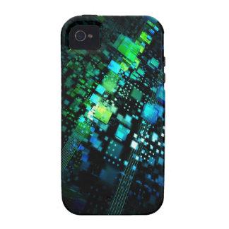Verde azul vibe iPhone 4 carcasa