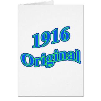 Verde azul original 1916 tarjeta de felicitación