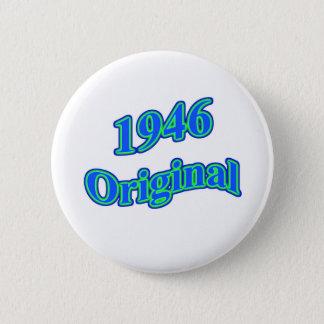 Verde azul original 1946 chapa redonda de 5 cm