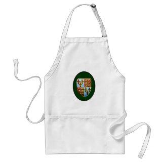 Verde BG del escudo de la iglesia de Inglaterra Ca Delantales