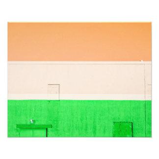 Verde blanco anaranjado arte fotografico