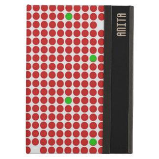 Verde blanco rojo del modelo gráfico de los puntos