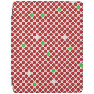 Verde blanco rojo del modelo gráfico diagonal de cover de iPad