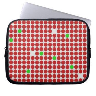 Verde blanco rojo del modelo gráfico horizontal de funda computadora