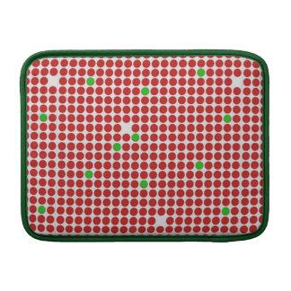 Verde blanco rojo del modelo gráfico horizontal de fundas MacBook