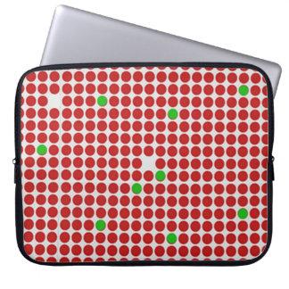Verde blanco rojo del modelo gráfico horizontal de mangas computadora