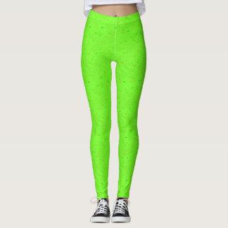 Verde claro con las polainas de las manchas leggings