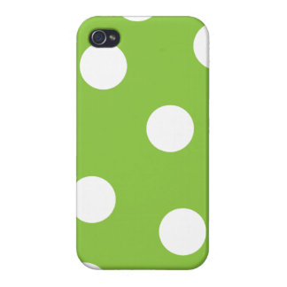 Verde con la caja blanca del iPhone 4 de los lunar iPhone 4 Funda
