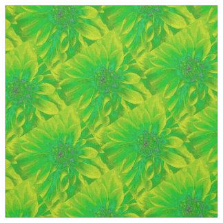 Verde con la dalia amarilla del fondo telas