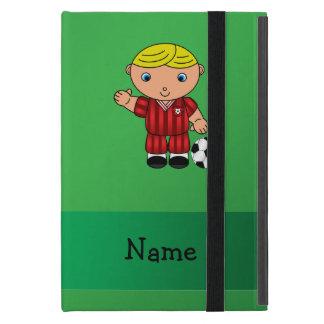 Verde conocido personalizado del jugador de fútbol iPad mini fundas