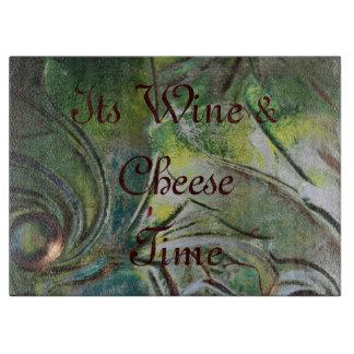 Verde-Corte-Tablero-Vino-Queso-Time Tablas Para Cortar