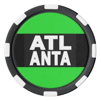 Verde de Atlanta 2 Fichas De Póquer