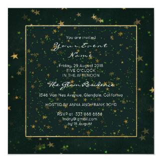 Verde de Cali de la noche estrellada del arbolado Invitación 13,3 Cm X 13,3cm