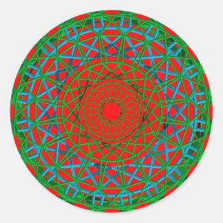 Verde de Chakra, rojo, pegatina azul
