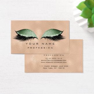 Verde de cristal metálico del brillo de los tarjeta de visita
