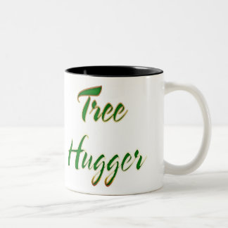 Verde de Hugger del árbol Taza De Café De Dos Colores