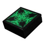 Verde de jade y modelo elegante negro cajas de joyas