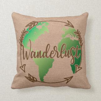 Verde de la almohada del Wanderlust