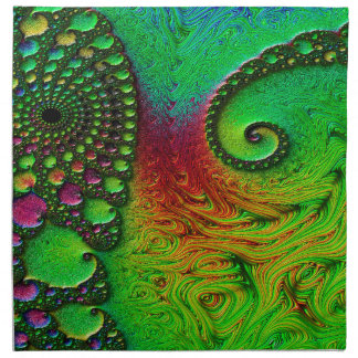 Verde de la fantasía servilleta de tela