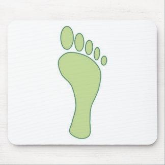 Verde de la huella del carbono alfombrilla de ratón