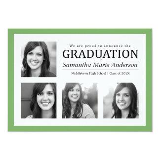 Verde de la invitación de la graduación del