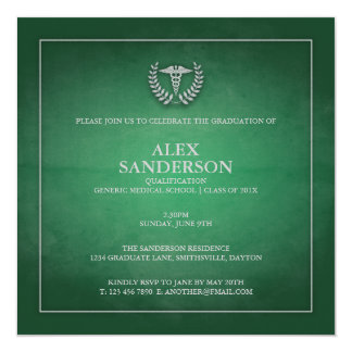 Verde de la invitación el | de la graduación de la