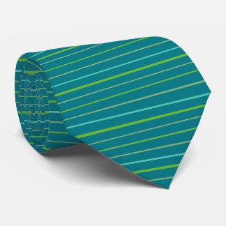 Verde de la primavera, rayas amarillas de la corbatas
