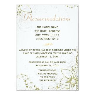 Verde de la tarjeta de los alojamientos y boda invitación 11,4 x 15,8 cm