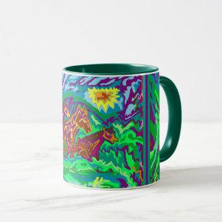 verde de la taza del campanero - la púrpura