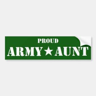 Verde de la tía del ejército pegatina para coche