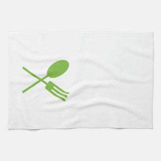 Verde de la toalla de cocina de Spork