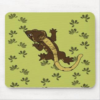 verde de las huellas del crestie (mousepad) alfombrilla de raton