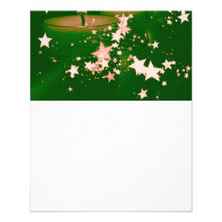 verde de las velas del navidad tarjetas publicitarias