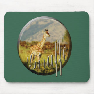 Verde de los mousepads del safari de la fauna del  alfombrilla de ratón