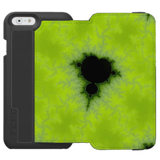 Verde de Mandelbrot del fractal Funda Cartera Para iPhone 6 Watson