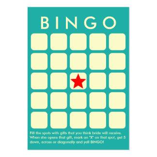 Verde de mar ligero 5 x tarjeta nupcial del bingo tarjetas de visita grandes
