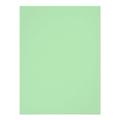 Verde de musgo ligero invitacion personal