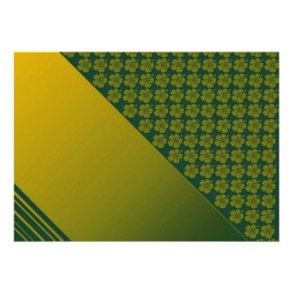 Verde de musgo y oro invitación de la plantilla d
