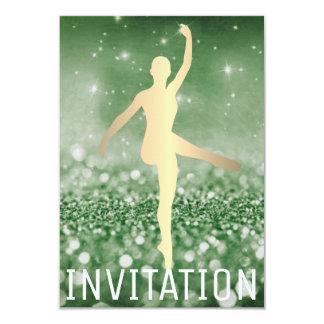 Verde de Piruette Cali del bailarín del salón de Invitación 8,9 X 12,7 Cm