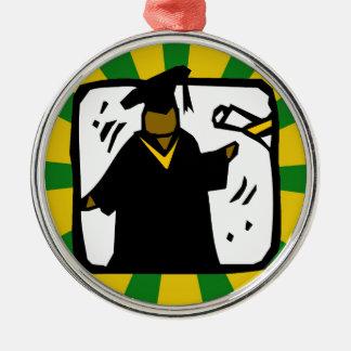 Verde de recepción graduado y oro del diploma (1) adorno