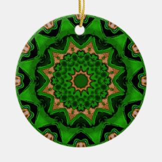 Verde de Sun de la caja del corazón Adorno Redondo De Cerámica