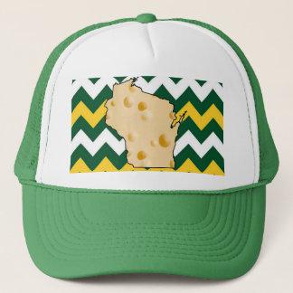 Verde de Wisconsin Greenbay y gorra de Cheeshead