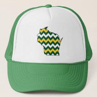Verde de Wisconsin Greenbay y gorra del oro