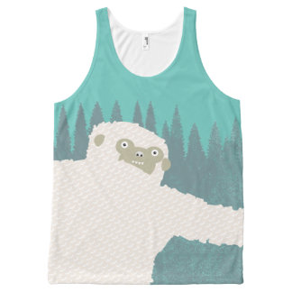 Verde del abrazo de Yeti Camiseta De Tirantes Con Estampado Integral