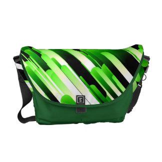 Verde del alto contraste bolsas de mensajería