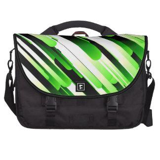 Verde del alto contraste bolsas para ordenador